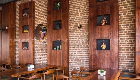 LOFT BRICK MARRON - CAFE & RESTAURANT TUĞLA PANEL ÇÖZÜMLERİ - ESKİTME TUĞLA GÖRÜNÜMÜ